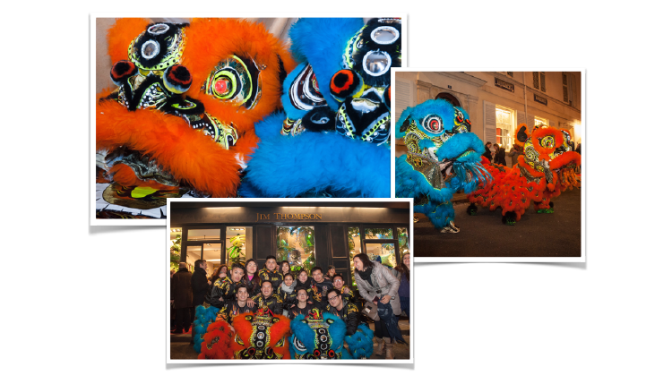 The Lion Dance for Chinese New Year